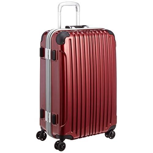 [ビバーシェ] Vivache スーツケース UH Mレッド 57L 5.0kg フレームハードキャリー UH-M レッド (レッド)