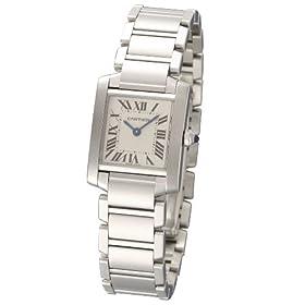Cartier (カルティエ) 腕時計 タンク フランセーズ W51008Q3 ホワイト レディース