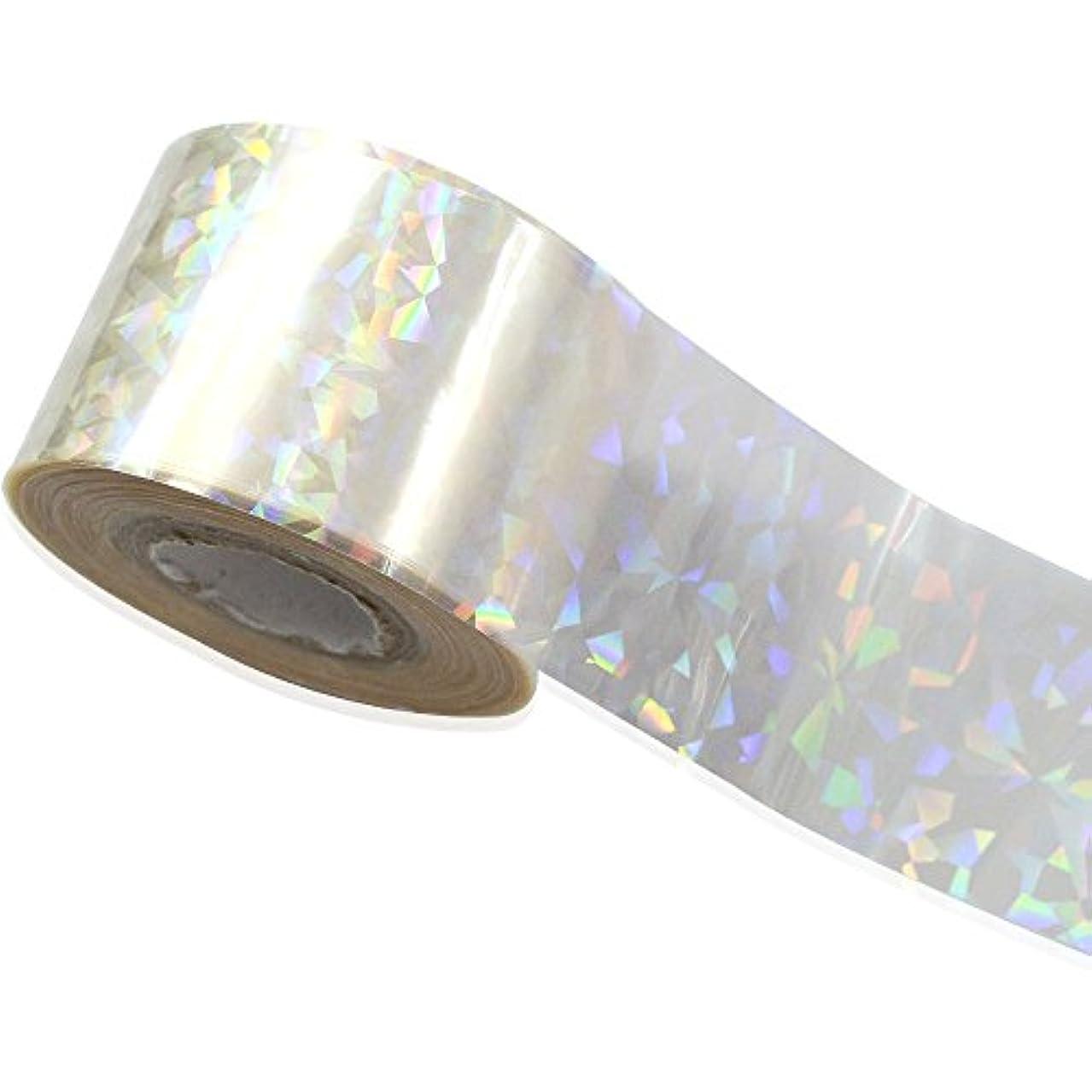 文芸短くする妨げるSUKTI&XIAO ネイルステッカー 100Cmx4Cm壊れたガラスミラー箔箔指diyネイルアートペーパーステッカーdiyネイル美容装飾ツール