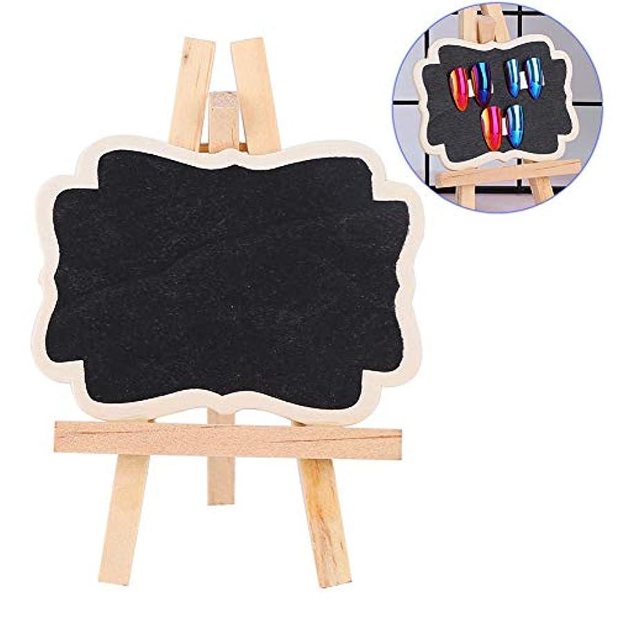 雇用終わり邪悪なネイルアート ディスプレイ スタンド 両面 ネイルアートディスプレイスタンド ジェル ポリッシュカラーショーケースフレーム 黒板