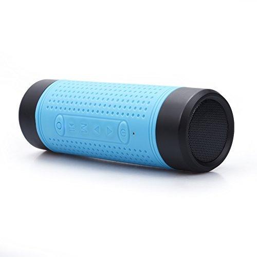 ヘッドライトLED 懐中電灯 自転車用 (自転車Bluetoothスピーカー /ライトが/ ラジオ /モバイルバッテリー USB充電式 )多機能自転車前照灯 LED 防水 防災セット ヘッドライト 靑い