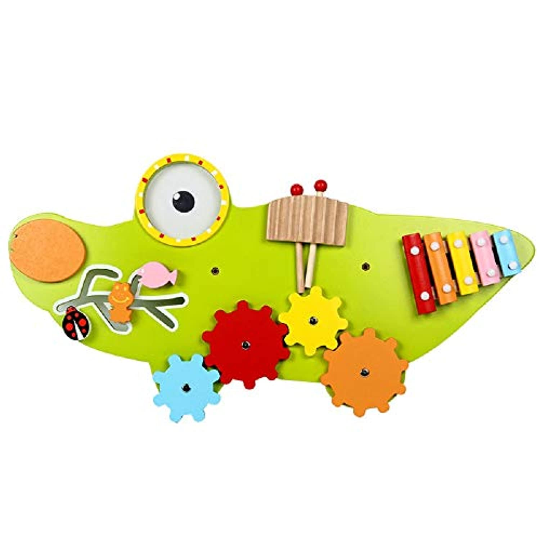 Zhenyu 子供用 おもちゃ 木製 ベビー 玩具 ウォールゲーム 音楽玩具 モデル組み立てキット 教育玩具 ワニのゲーム 子供用