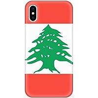 レバノンの国旗のアジアの国 アップルiphoneのx電話ケースフレキシブル透明ボーダーカバーソフトスリム