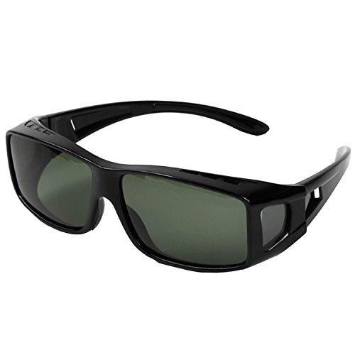 メガネの上から掛けられる オーバーグラス オーバーサングラス メンズ レディース 兼用 偏光 UV400 紫外線 99.9%カット 眼鏡+ケース セット【...