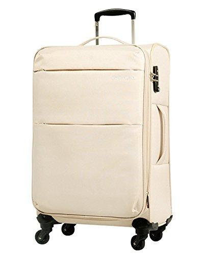 L型 ベージュ / AIR6327(solite)スーツケース キャリーケース ソフト TSAロック搭載 大型