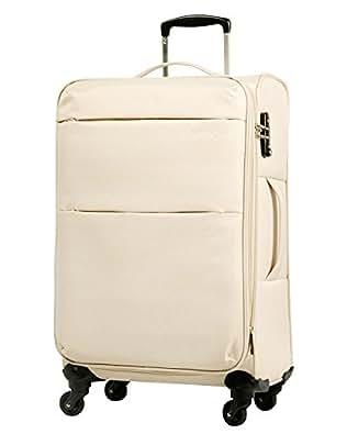 S型 ベージュ / AIR6327(solite)機内持ち込み可 ソフト スーツケース キャリーバッグ TSAロック搭載 超軽量