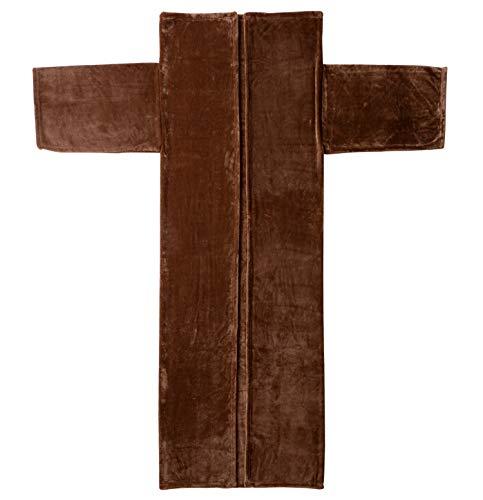 セシール 着る毛布 ブラウン系 フリー 袖付毛布 CY-726