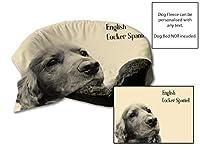 """45""""x 31""""英語のコッカースパニエルデザインの犬犬保護ブランケット/スローペットシートセーバー(クリーム)"""