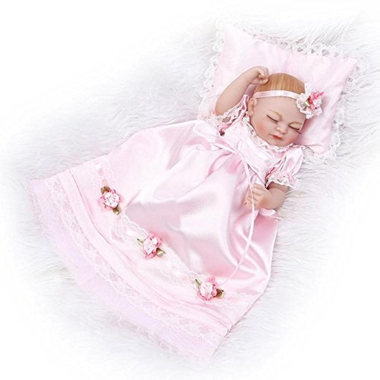10インチフルシリコンReborn Sleeping Girlベビー人形Lifelike Little Princess PoseableビニールPlayhouseおもちゃ