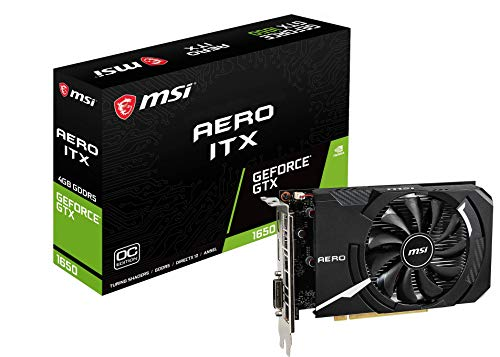 MSI GeForce GTX 1650 AERO ITX 4G OC グラフィックスボード VD6936 B07QTWLVW3 1枚目