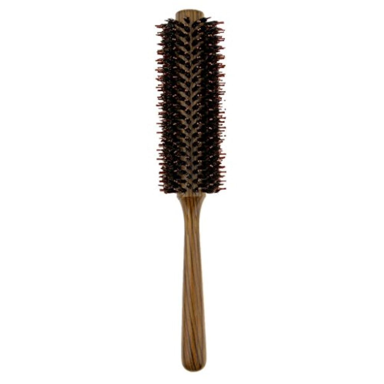 人工ナチュラル解体するToygogo ヘアブラシカーリングヘアラウンドブラシバレルヘアスタイリングコームヘアブラシ - L
