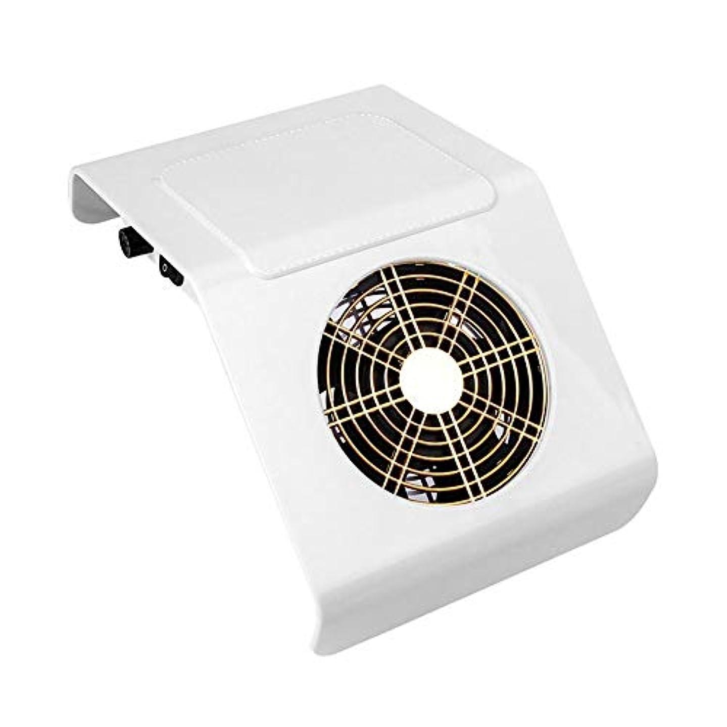 ワーカー割れ目平衡40Wネイル集塵機の吸引ファン、2つの集塵袋付きネイル掃除機バッグネイルアートマニキュアサロンツールの収集マニキュアの工作機械ダスト (Color : White)