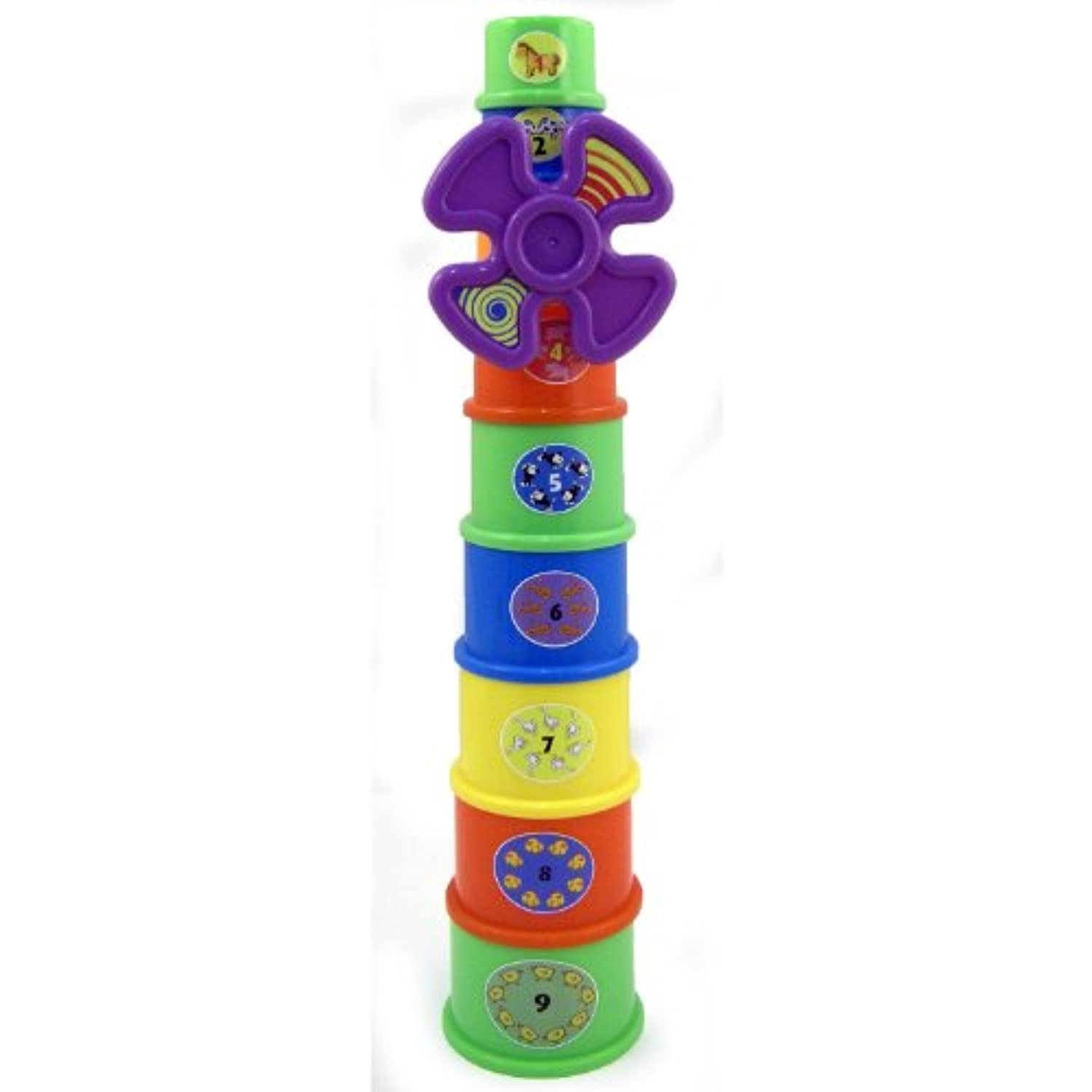 Educational Windmill Stacking Cups Nest & Stack Toy by Nest & Stack Toy