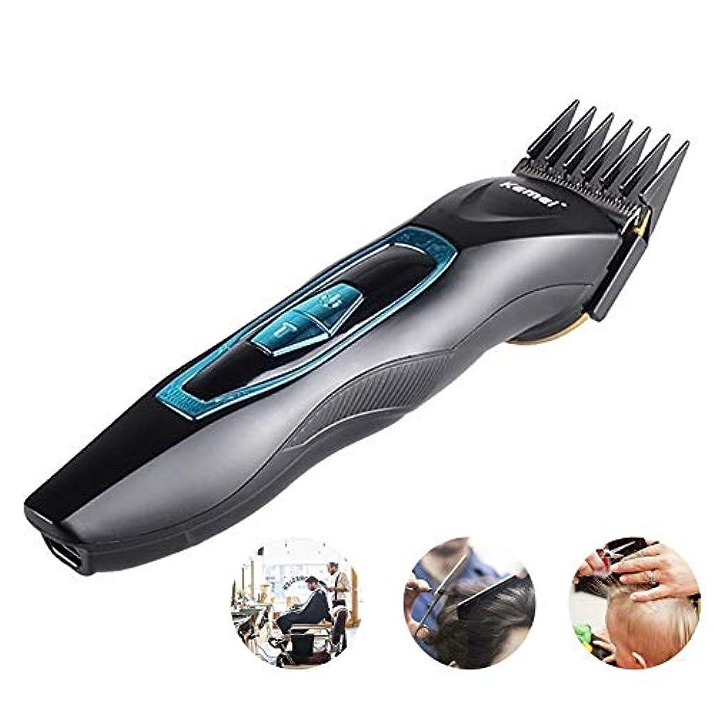 バリカンヘアカット機メンズプロフェッショナルヘアトリマー切断機散髪カッター洗えるかみそり男性用