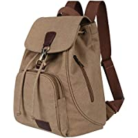 Qyoubi Canvas Fashion Backpacks Purse Casual Outdoor Shopping Daypacks College School Hiking Travel Multipurpose Rucksack Bag