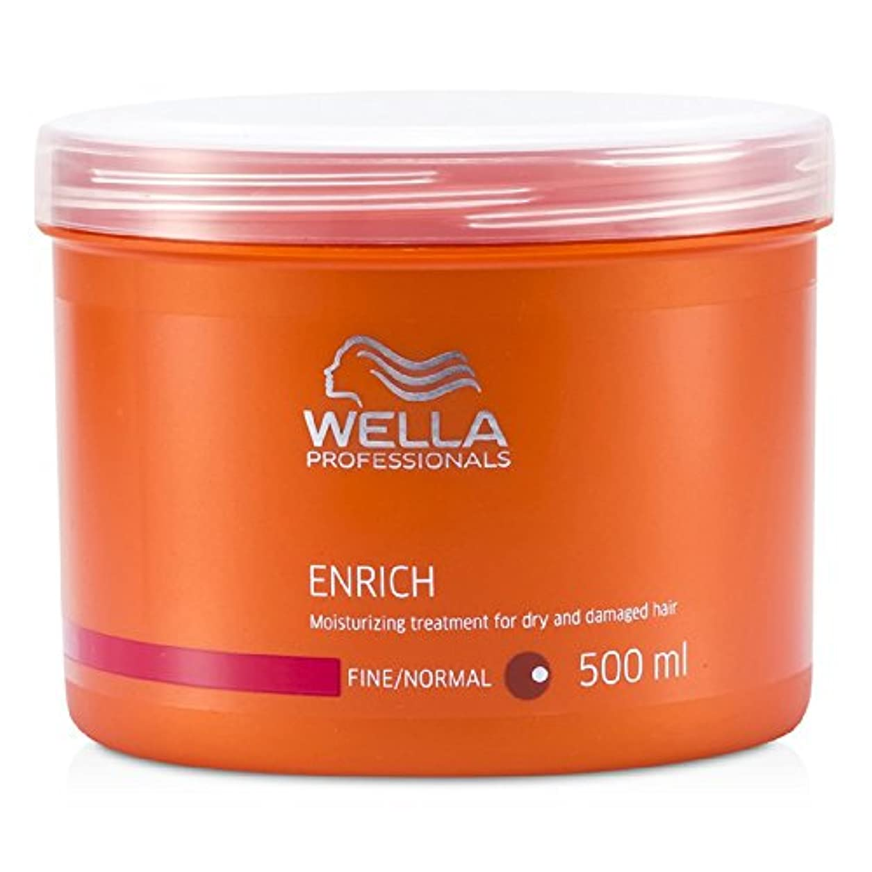 後世カウンタやりがいのあるウエラ エンリッチ モイスチャライジング トリートメント ドライ、ダメージヘア (普通/細い髪) 500ml/16.7oz並行輸入品