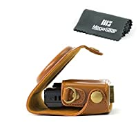 MegaGear 'Ever Ready' Protective Fitted Ligth Brown Leather Camera Case , Bag for For Canon PowerShot SX280 HS Camera [並行輸入品]