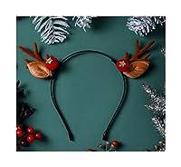 HCXD クリスマスカチューシャ子供のギフトジュエリーヘアアクセサリー小アントラーズ帽子の飾りかわいいエルクヘアピンぬいぐるみカチューシャブラウンアントラーズエルクヘッドバンド(利用可能な複数のスタイル) クリスマスの帽子 (スタイル : 7#)