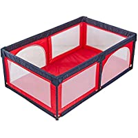 ベビーサークル 子供の遊び場室内の赤ちゃんの遊び場ポータブル子供の安全のフェンス遊び場の遊び場 (色 : Red)