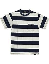(ショット) Schott インディゴ ボーダー ポケット Tシャツ ポケットTシャツ カットソー メンズ レディース 3183008