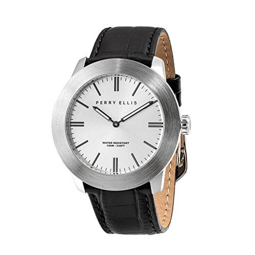 [ペリー・エリス]Perry Ellis 腕時計 SLIM LINE(スリム・ライン) クォーツ 46 mmケース 本革バンド 03012-01 メンズ 【正規輸入品】