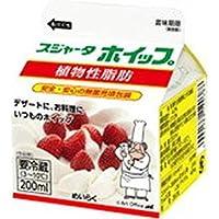 【冷蔵】スジャータ ホイップ 200ml めいらく X3箱