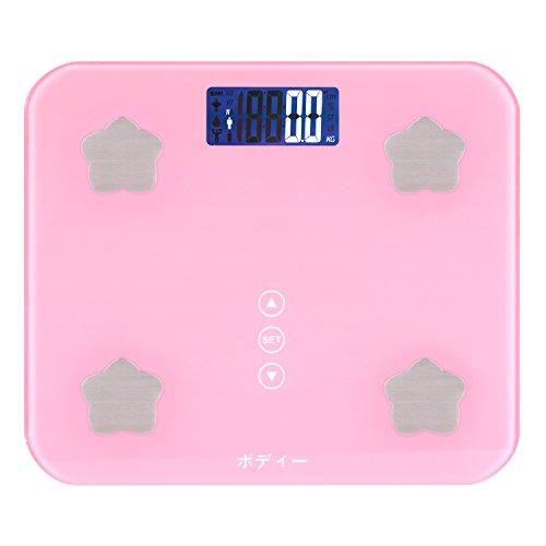 ボディー 高精度 体重計 体組成計 体脂肪計 デジタルヘルスメーター 180kg計量 ボディースケール ダイエット 乗るだけで電源ON 強化ガラス カラダスキャン