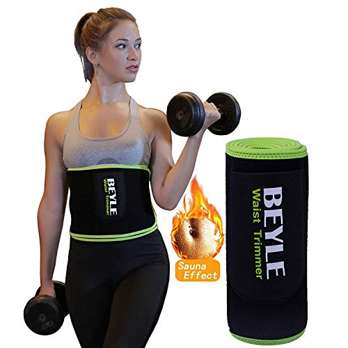 Beyle シェイプアップベルト 男女兼用 発汗 お腹引き締め 加圧ベルト 脂肪燃焼 ダイエットベルト 腰痛 フリーサイズ 姿勢矯正 ウエストベルト 腹筋 減量用 サウナベルト 腰椎固定