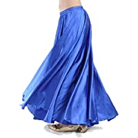 omniscient Womens Dance Fairy Belly Dance Satin Skirt Full Circular Swing