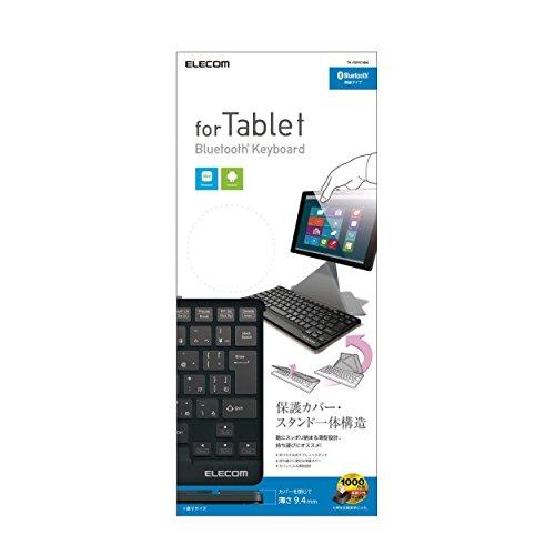 『エレコム ワイヤレスキーボード Bluetooth Windows・Android用 1000万回高耐久 TK-FBP073BK』の1枚目の画像