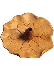 Fityle 蓮花形 香皿 竹製 お香立て スティック用 1穴 バーナー ホルダー