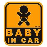 ナポレックス 傷害保険付き BABY IN CAR セーフティーサイン 【特殊吸盤タイプ(内貼り)】 SF-19
