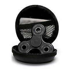Cosy Zone 指スピナー 人気の指遊び 高速回転 ウィジェット ストレス解消 フォーカス玩具 カラー選択可能 (ブラック)