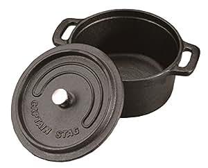 キャプテンスタッグ ココット ダッチオーブン UG-3036 14cm 容量0.8L 鋳鉄製 IH・オーブン対応