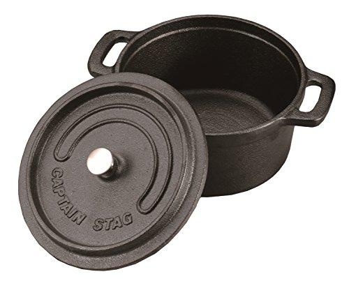 キャプテンスタッグ ココット ダッチオーブン 14cm 容量0.8L 鋳鉄製 ガス火・IH・オーブン...