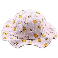 Lieteuy 子供 幼児 赤ちゃんの帽子 かわいい ルーツプリント パターン バケット帽子 ヘルメット バケットキャップ Sunhat