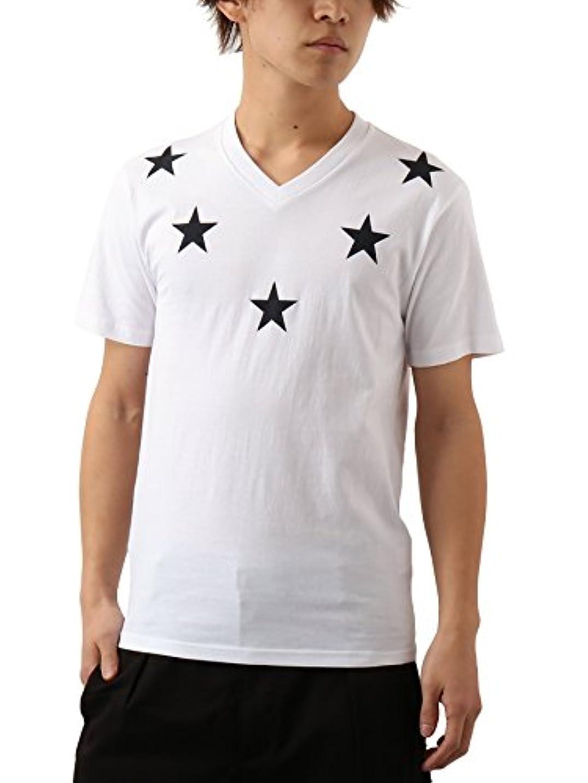拡声器モディッシュアサート[REPIDO (リピード)] Tシャツ 半袖 メンズ プリント Vネック クルーネック モノトーンロゴ 国旗