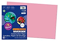 Riverside Paper Groundwood Construction Paper, 12in. x 18in., Pink by Riverside [並行輸入品]