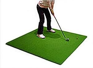 ゴルフ練習用スタンス&ショットマット 人工芝125cmサイズ 自宅GOLF練習 オリジナルティー付