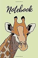 """Notebook: 6"""" x 9"""" Light Green Giraffe Illustration College Ruled Notebook"""