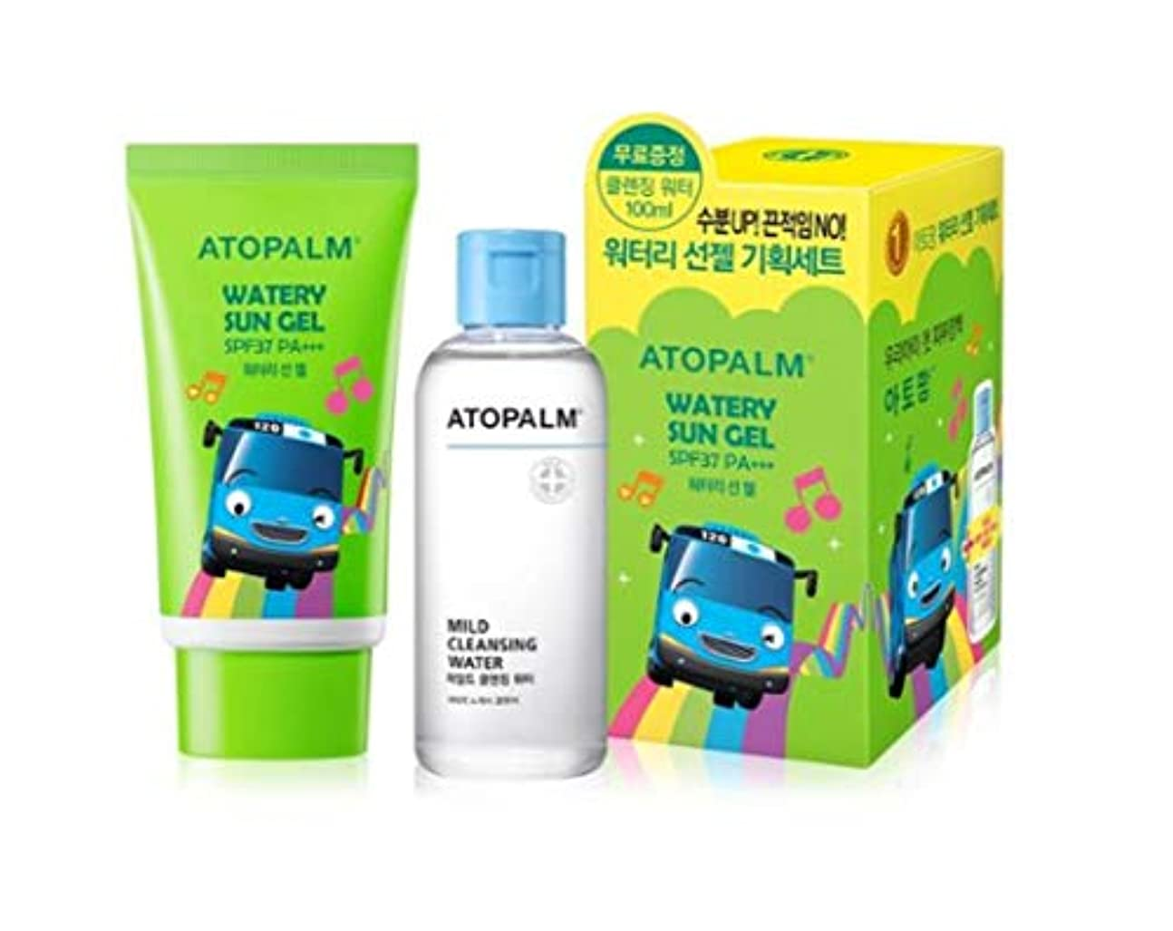 胸モンスター経済ATOPALM OUTDOOR Mild Sun Cream(EWG all green grade!)+ Cleansing Water100ml SPF32+ PA+++日焼け止めパーフェクトUVネック?手?足の甲?...