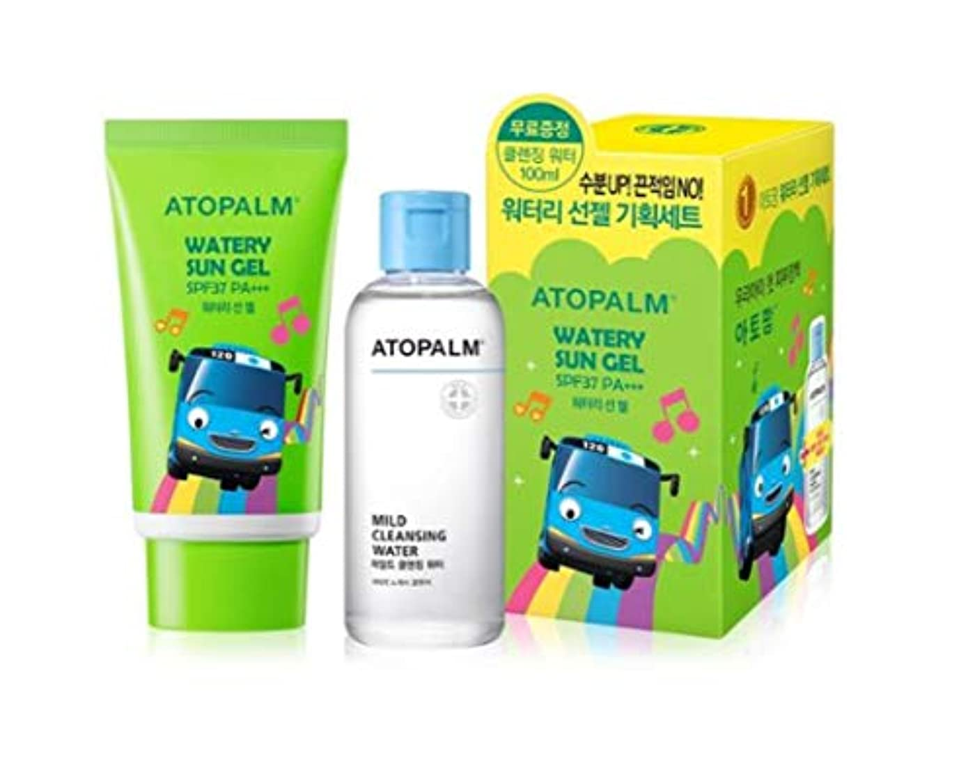 大陸逮捕子猫ATOPALM OUTDOOR Mild Sun Cream(EWG all green grade!)+ Cleansing Water100ml SPF32+ PA+++日焼け止めパーフェクトUVネック?手?足の甲?...