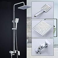シャワーシステム、ハンドウォールマウント - 3つのアウトレットシャワーは、柔軟性を意味します - 調整可能なシャワー - バスルームモダンレインシャワーセット