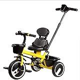 子供の三輪車 2人の子供の三輪車に付き1.5から5年360°旋回サドルキッズ三輪車滑り止めペダル2ポイント安全ベルト子供トライク最大重量25 Kg 三輪車 おりたたみ 持ち運び (色 : B)