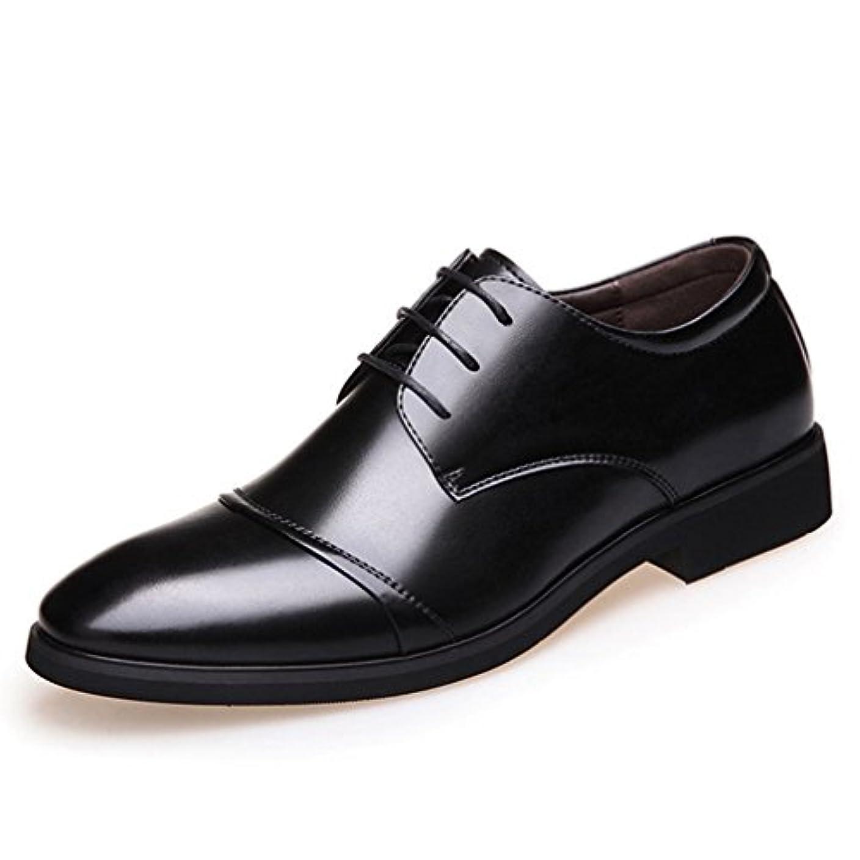 インタラクションキャッチ倫理[XINXIKEJI]ビジネスシューズ メンズ 革靴 紳士靴 ウィングチップ防水 甲高幅広ビジネスシューズ 人気 柔らかい ビジネス靴 滑り止め