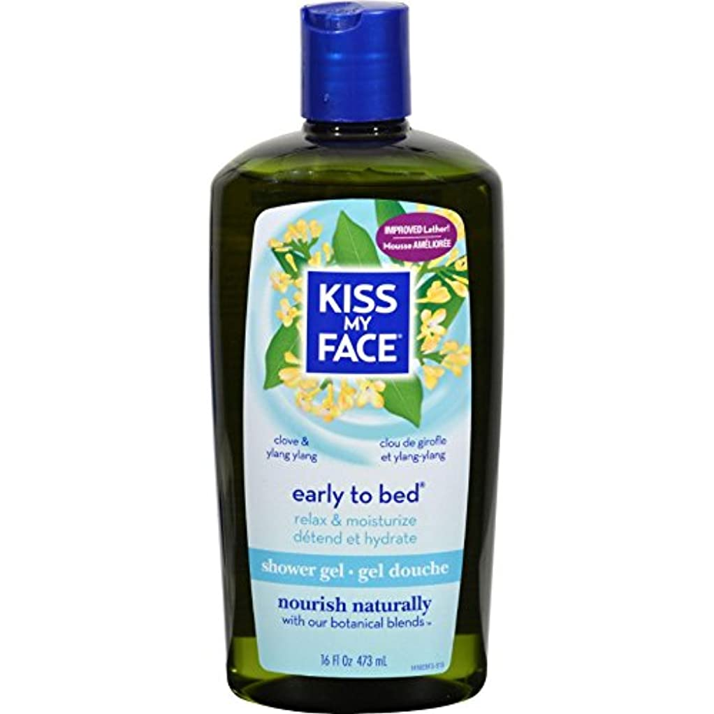 不愉快に関与するダッシュBath and Shower Gel Early to Bed Clove and Ylang Ylang - 16 fl oz by Kiss My Face