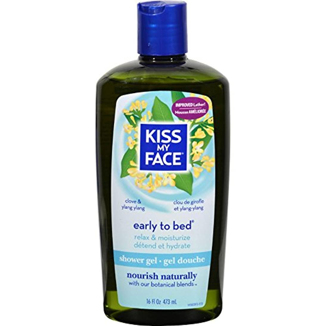 おかしい脳半導体Bath and Shower Gel Early to Bed Clove and Ylang Ylang - 16 fl oz by Kiss My Face