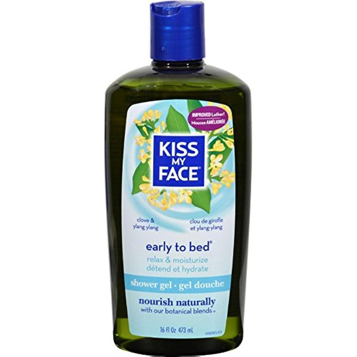 手順フェードアウトバスルームBath and Shower Gel Early to Bed Clove and Ylang Ylang - 16 fl oz by Kiss My Face