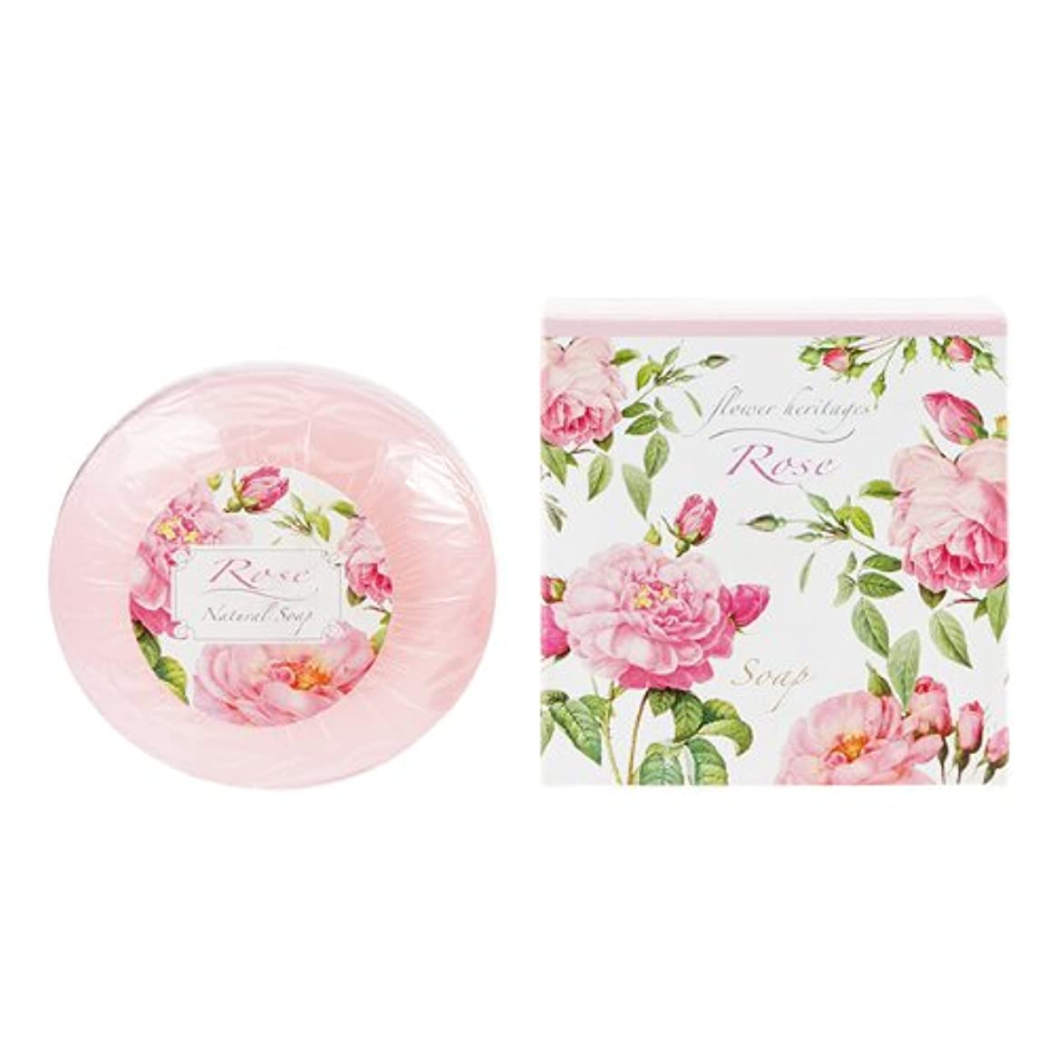 想起珍しいモンキーネイチャータッチ (Nature Touch) Flower Heritage ソープ120g/ローズ
