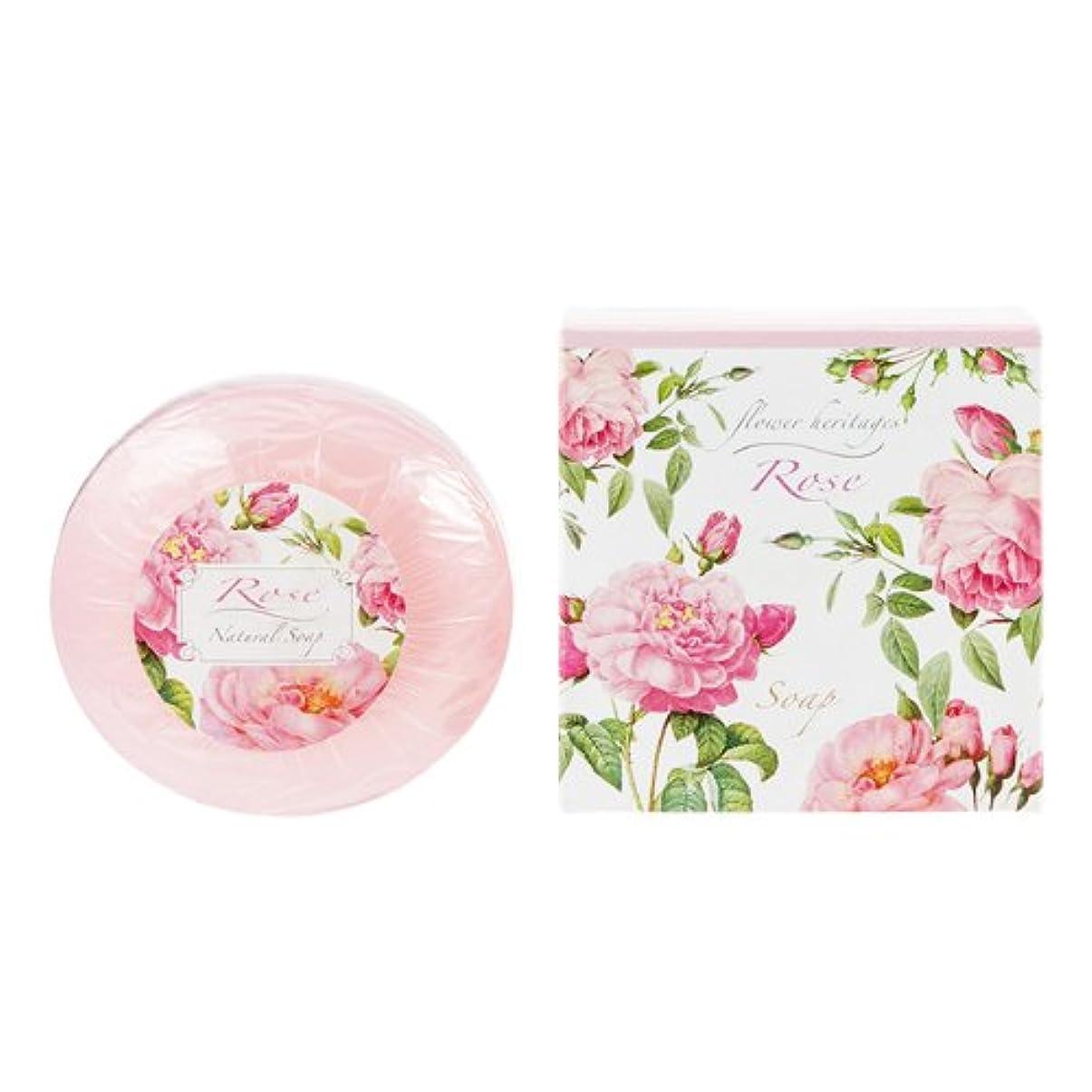 ステンレス層シルクネイチャータッチ (Nature Touch) Flower Heritage ソープ120g/ローズ